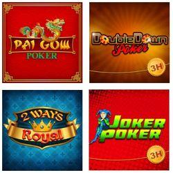Some of the popular online poker variants.