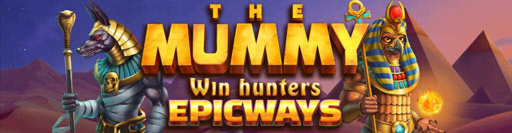 The Mummy Win Hunters slot Logo