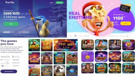 New casinos listed: Emojino and True Flip – up to NZ$ 2600 + 225 free spins