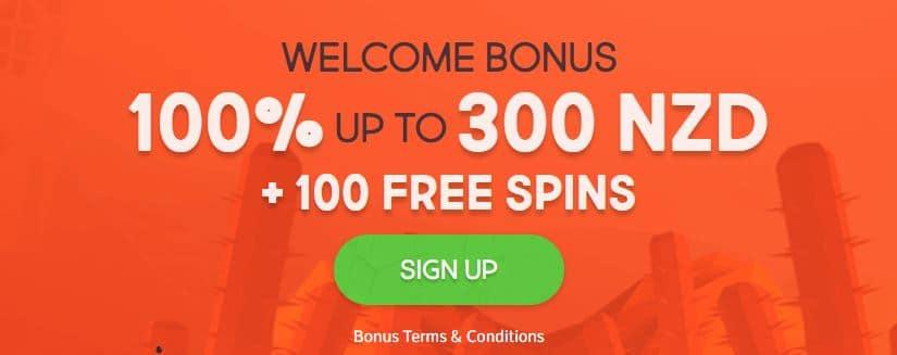 example of welcome casino bonus.