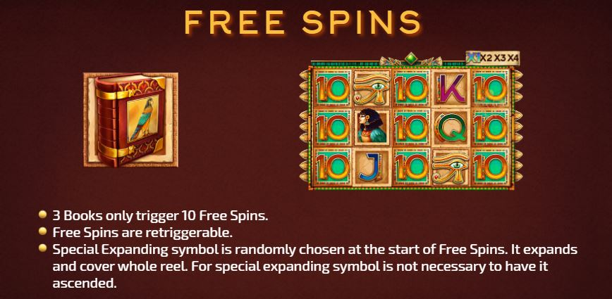 Bonus game with free spins.