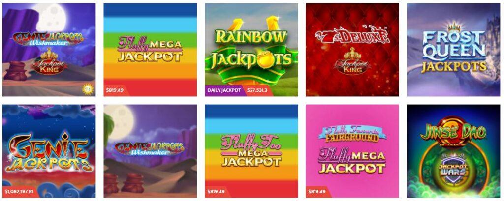 jackpot slot list at casino online.