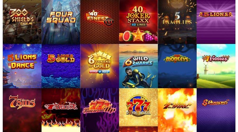 casino games list.