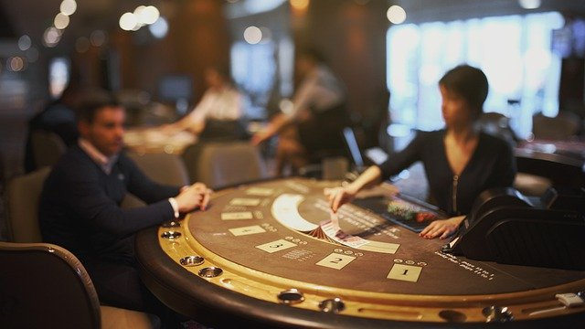 Image of blackjack table.