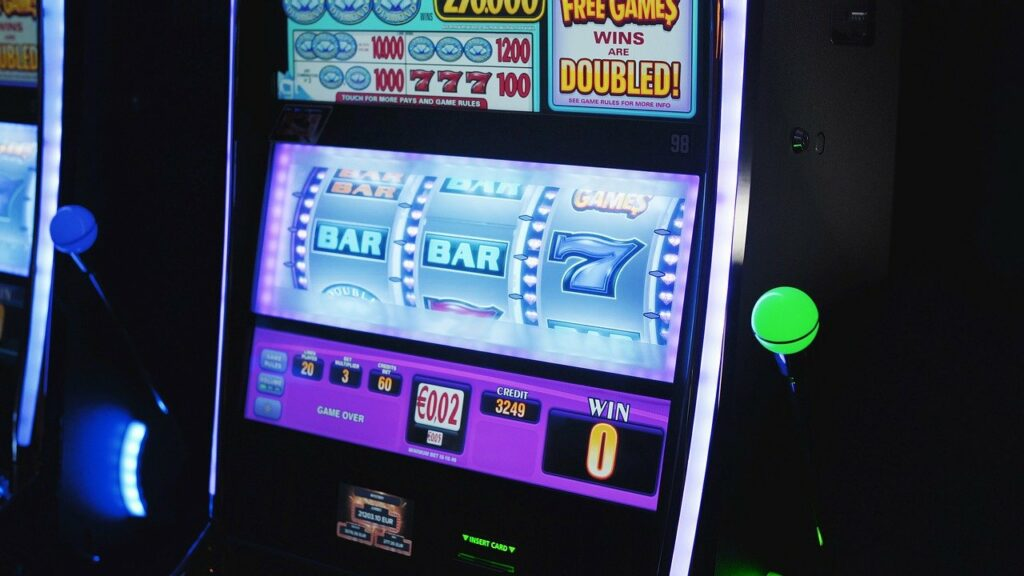 pokies machine in land based casino.