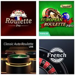 screenshot of 4 online roulette games.