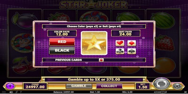 Star Joker double up slot game.