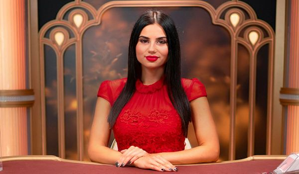 Here is the photo of the most beatiful casino live dealer girl at Evolution Global.