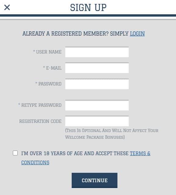 white lion casino registration process