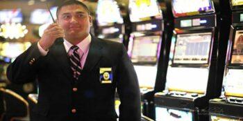 casino guard in the gaming area