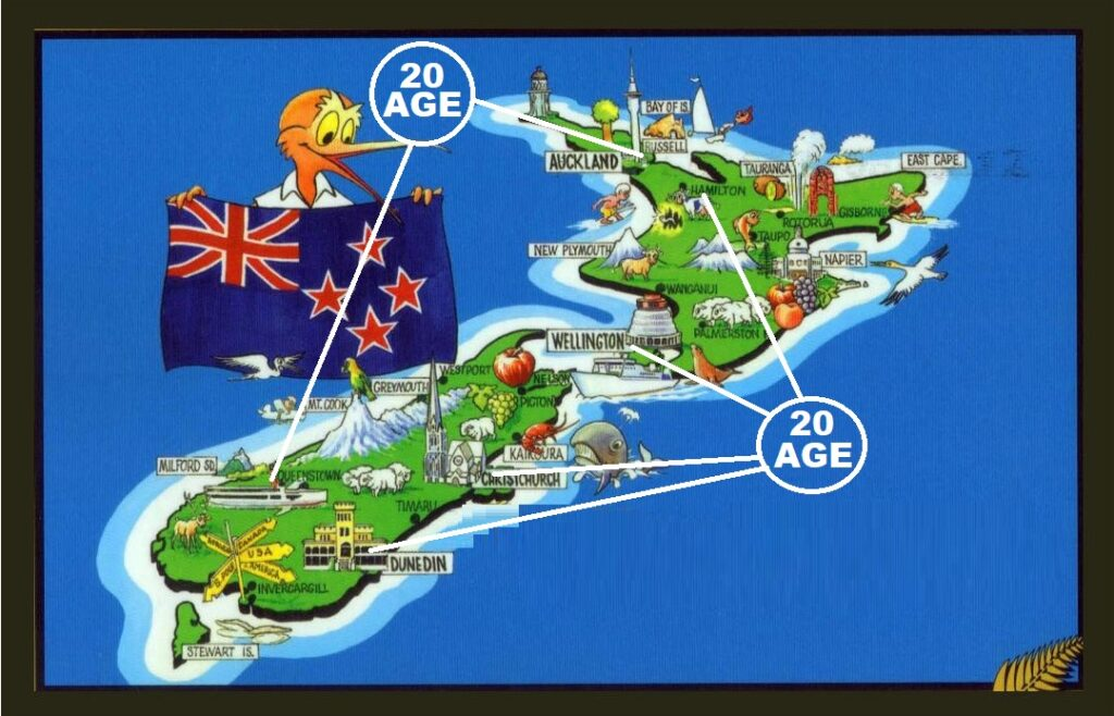 casino age limits in marked in  a map of NZ