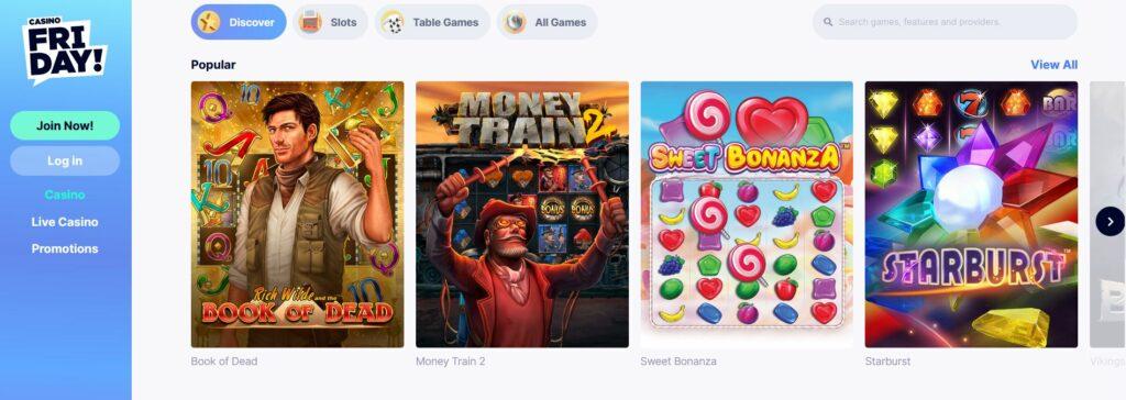 casino friday games