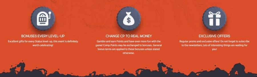 types of casino rewards
