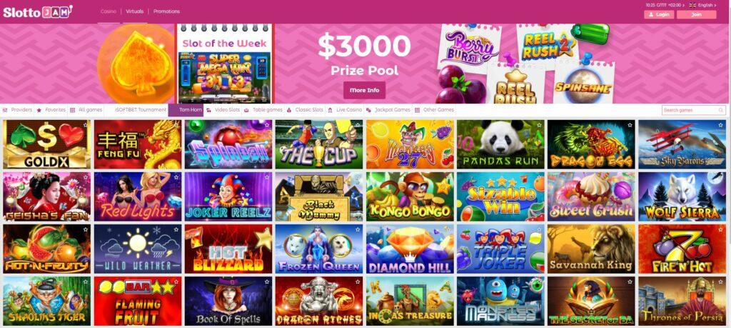 games screenshot at Slottojam