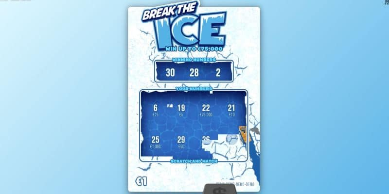 screenshot of the break the ice scratch game
