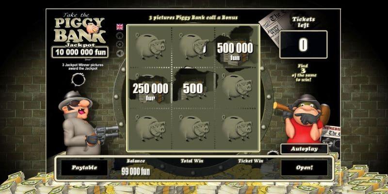piggy bank scratch game screenshot