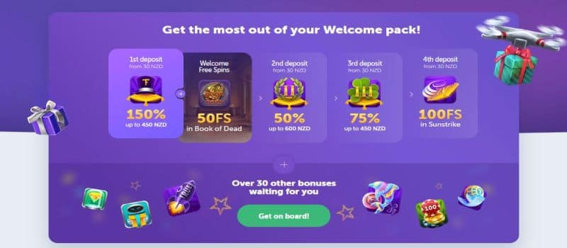 screenshot of the true flip bonus offer