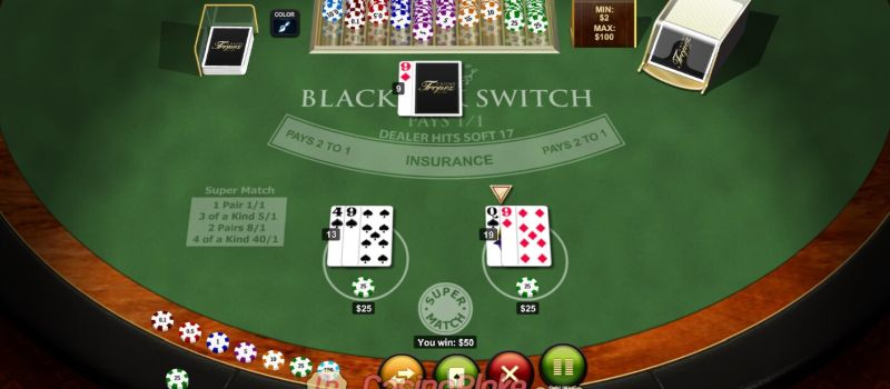 switch blackjack table