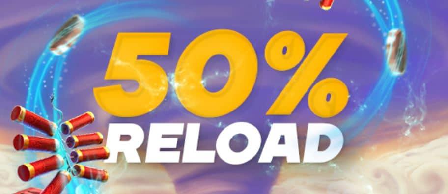 50% Loki casino reload bonus
