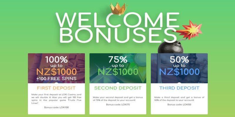Loku casino welcome bonus offer for New Zealand 2021