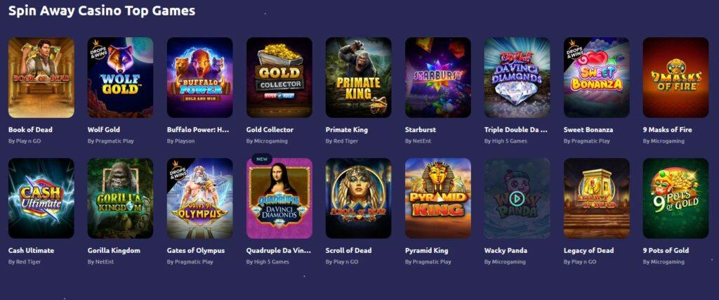 games page screenshot