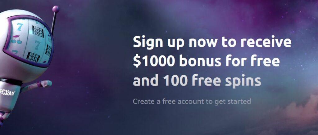 Spinaway welcome bonus