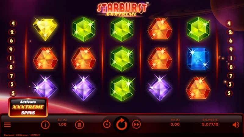 Starburst xxtreme slot game screenshot