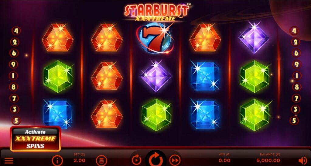 Starburst XXXtreme slot screenshot