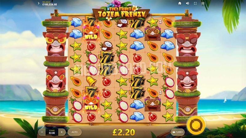 Tiki Fruits Totem Frenzy slot screenshot